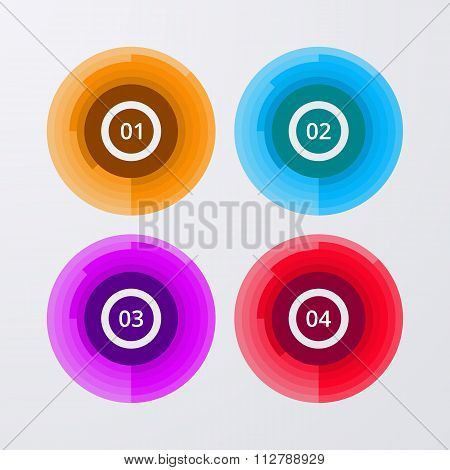 Vector illustration infographics four circles