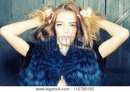 Stylish Woman In Waist Coat