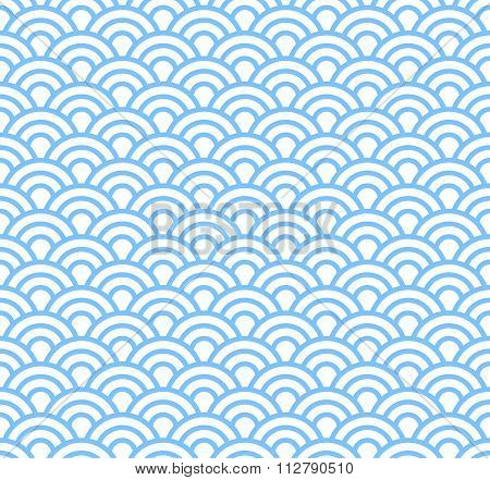 Wave, Asian Seamless Pattern