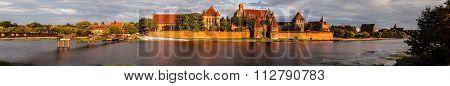 Malbork castle panorama image