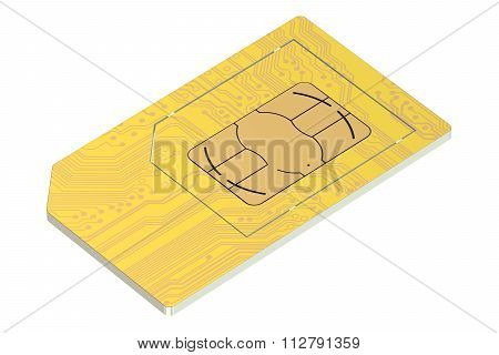 Golden Sim Card