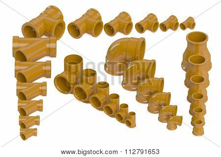 Set Of Plastic Sewer Pipes