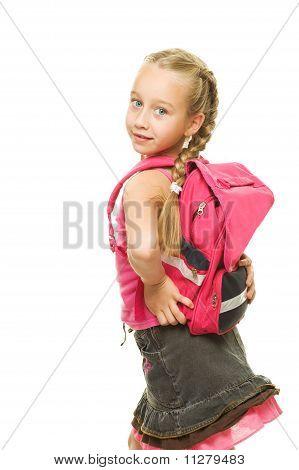 Beautiful funny schoolgirl