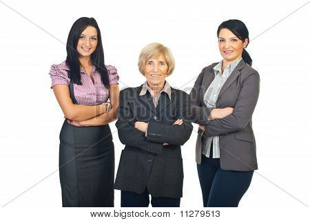 Three Business Women Team