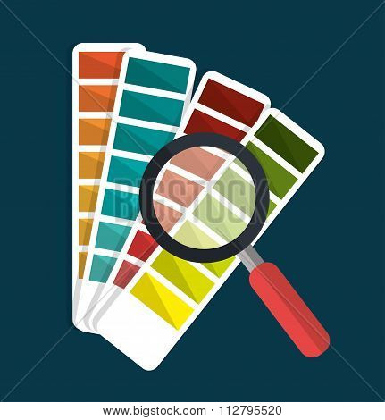Pantone and magnifying glass