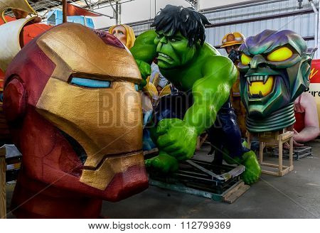 New Orleans Mardi Gras World - Superheroes