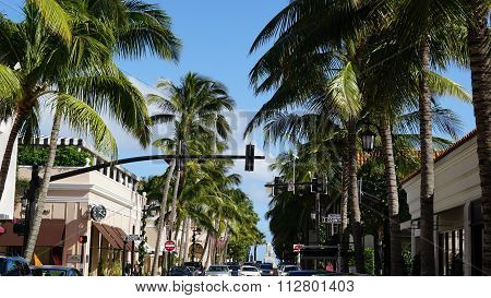 Worth Avenue in Palm Beach, Florida