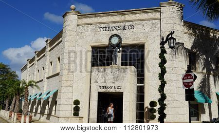 Tiffany & Co. store at Worth Avenue in Palm Beach, Florida