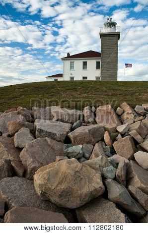 Watch Hill Lighthouse In Rhode Island