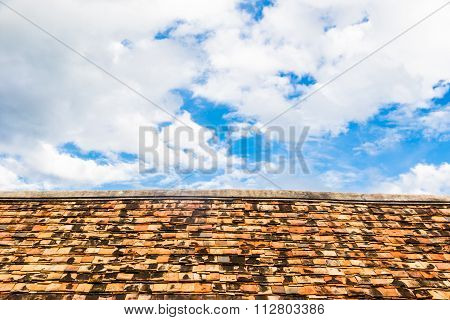 Old Roof With Clay Tiles