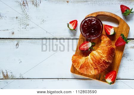 Croissants And Ripe Berries