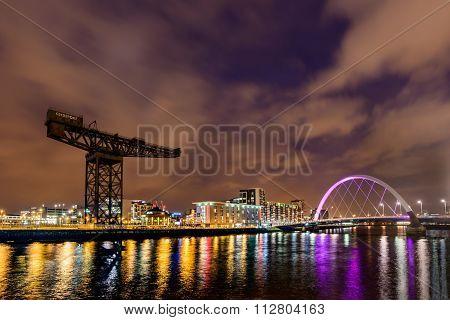 Finnieston Crane and Clyde  Arc Bridge