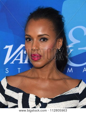 LOS ANGELES - NOV 19:  Kerry Washington arrives to the Inaugural Variety and WWD StyleMakers Event  on November 19, 2015 in Culver City, CA.