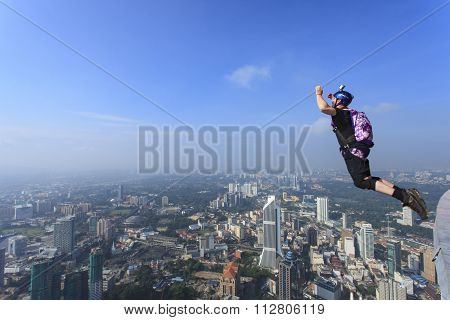 Kuala Lumpur Tower International BASE Jump.
