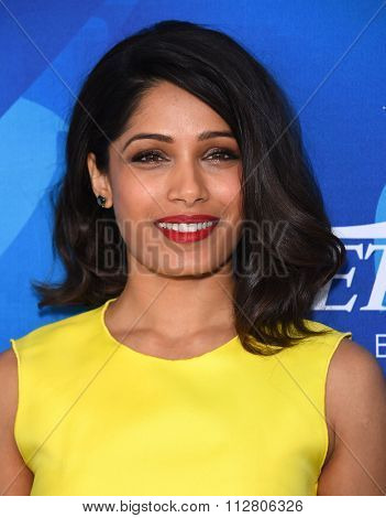 LOS ANGELES - NOV 19:  Freida Pinto arrives to the Inaugural Variety and WWD StyleMakers Event  on November 19, 2015 in Culver City, CA.