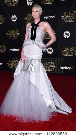 LOS ANGELES - DEC 14:  Gwendoline Christie arrives to the