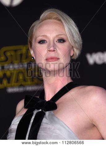 LOS ANGELES - DEC 14:  Gwendoline Christie arrives to the