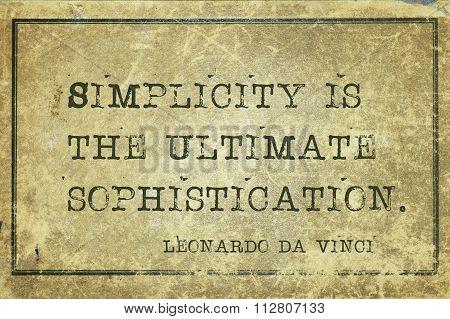 Simplicity Is Davinci