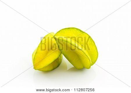 Star Fruit Or Carambola.