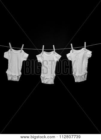Three Baby Onsies
