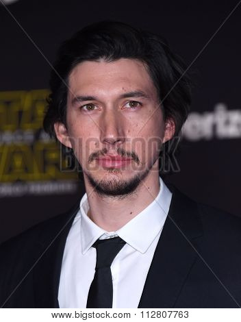 LOS ANGELES - DEC 14:  Adam Driver arrives to the