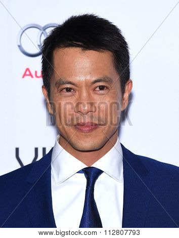 LOS ANGELES - NOV 12:  Byron Mann arrives to the AFI Fest 2015 Closing Gala 'The Big Short' World Premiere  on November 12, 2015 in Hollywood, CA.