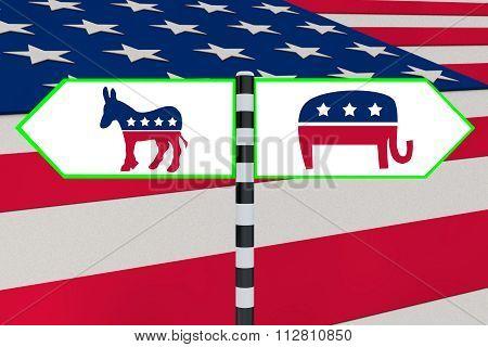 Democrat Vs Republican Concept