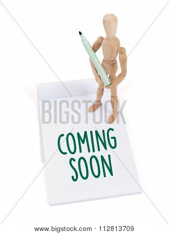 Wooden Mannequin Writing - Coming Soon