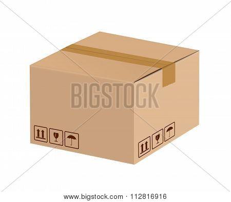Sealed Cardboard Box