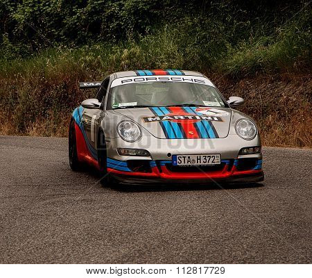 LANDSCAPE WITH PORSCHE with martini color