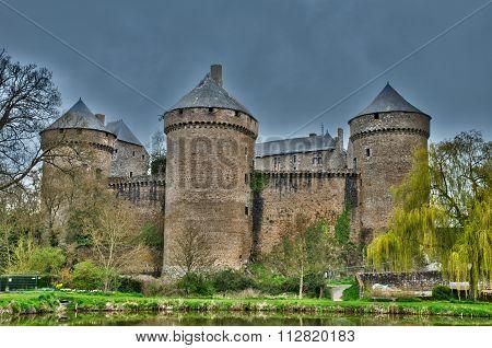 France, Picturesque Castle Of Lassay Les Chateaux