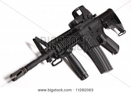 Modern Army Weapon. M4 Ris Carbine.
