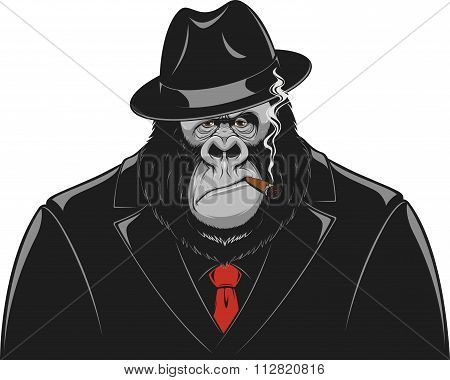 Monkey in a suit gangster