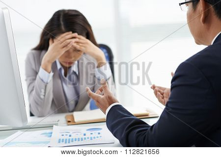 Unhappy with employee