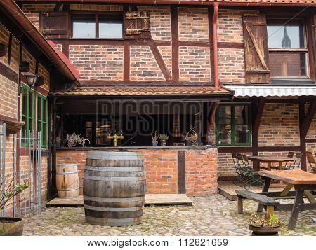 Outdoor rural cafe