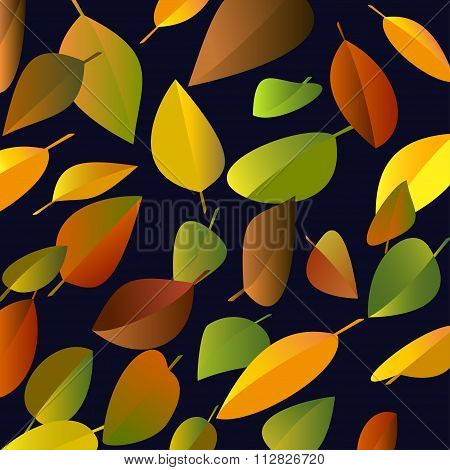 Background of falling leaves