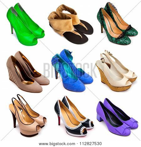 Multicolored Female Shoes