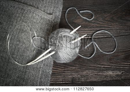Thread For Knitting With Spokes