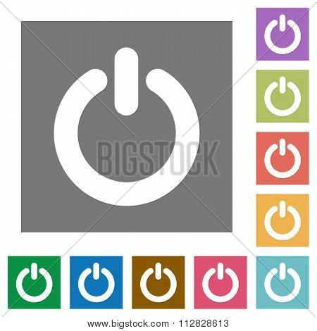 Power Switch Square Flat Icons