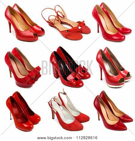 Red Female Shoes