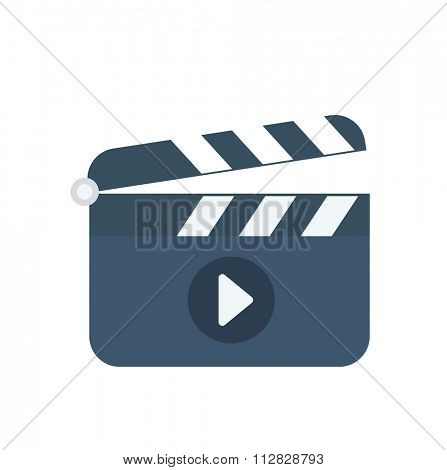 Clapboard flat icon, logo illustration