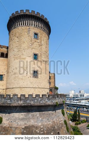 Tower Of The Castel Nouvo In Naples, Italy