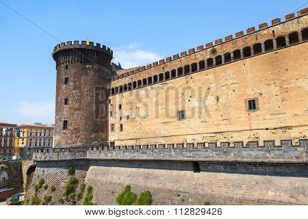 Tower And Wall Of The Castel Nouvo In Naples