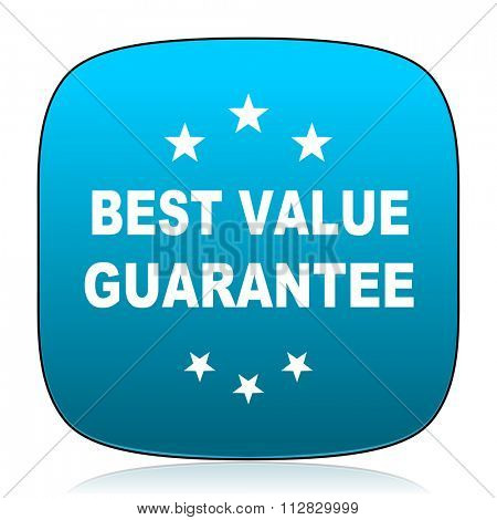 best value guarantee blue icon