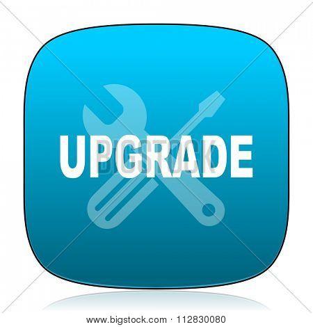 upgrade blue icon