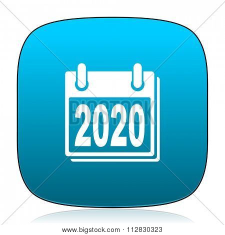 new year 2020 blue icon