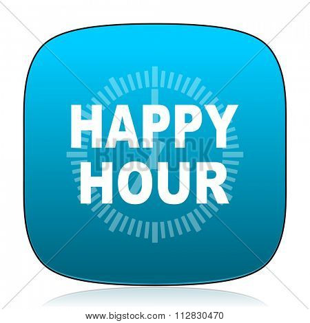 happy hour blue icon