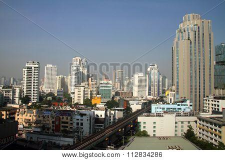 High rise buildings of Bangkok city, Thailand