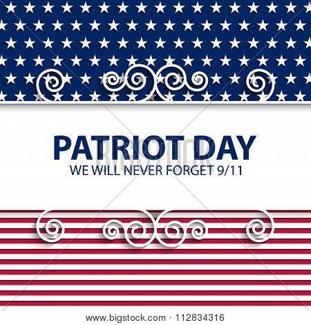 Stock vector Patriot Day USA