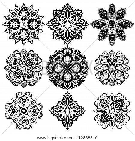 geometric ornaments set